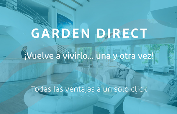 Garden Direct. Experience. Book now. Healthy Holiday