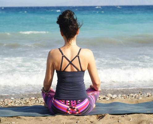 Mindfullness. Body. Relax. Beach. Mallorca.