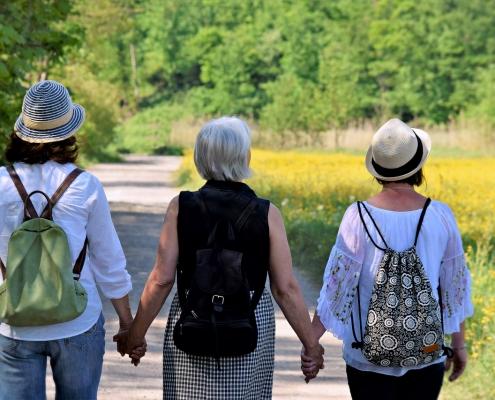 Menopause. Sports. Holidays. Healthy life.