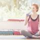 Woman drinking water after pilates- samsara healthy holidays